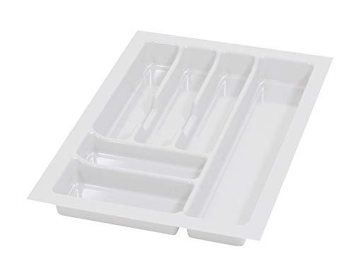 Alusfera Besteckkasten fur Schubladen 40 Besteckeinsatz für Schubladen 330 x 490 mm Besteck Schubladeneinsatz Schubladen Organizer Küche Weiss