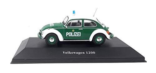 Volkswagen DieCast Metall Miniaturmodelle Modellauto 1:43 1200 Käfer Polizei Deutschland 1977