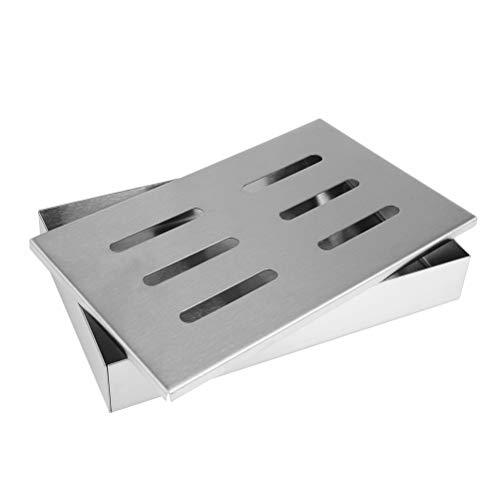 ATPWONZ Smokerbox, Räucherbox, Räucherkaste für Gas-, Kohle- und Elektrogrill, Größe: 21.2x13x3.5 cm Größe: 21.2x13x3.5 cm