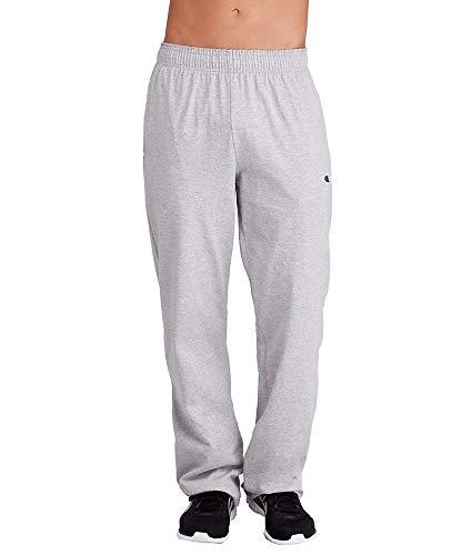 Champion Men's Authentic Open Bottom Jersey Pant, Medium - Oxford Grey