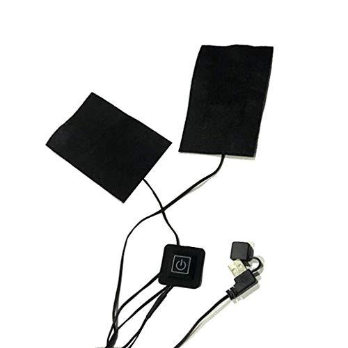 Mingtongli 2 in 1 oder 5 in 1 elektrischen USB-Jacken Kleidung Heizkissen Winter-Weste Beheizbare Warmer Pads Faser-Heizung