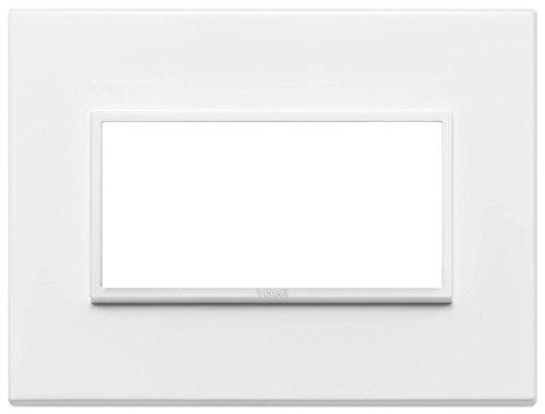 Vimar Serie Eikon Evo–Placca 4Moduli Alluminio Serie Eikon Bianco Total