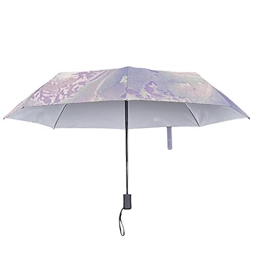 Ombrello pieghevole con texture marmorizzata, automatica, antivento con parasole