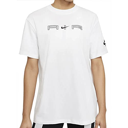 NIKE W NSW Air SS Top BF T-Shirt, White, XS Women's