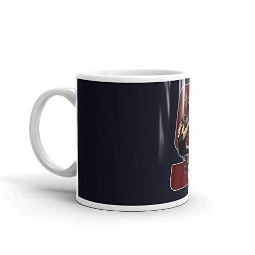 Lsjuee Quini - Deportivo. Las tazas de 11 onzas son el regalo perfecto para todos. Tazas de cerámica brillantes de 11 onzas Regalo para amantes del café C