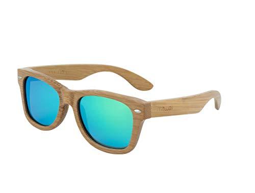 Mawaii Sunglasses Bamboo:LE - Bambus-Sonnenbrille mit polarisierten Gläsern, schwimmfähig und Ultraleicht, Sonnenbrille für Damen und Herren, Sportsonnenbrille, Ahua MATA 2.0