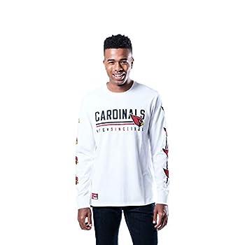 Ultra Game NFL Arizona Cardinals Mens Active Basic Long Sleeve Tee Shirt Team Color Large