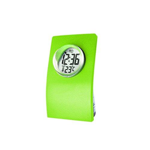 MagiDeal NEU Flasche -Design Wasserbetriebene Uhr Tischuhr (24-Stunden Mode) mit Datum und Temperatur Anzeigen, Eco-Friendly Clock - Grün