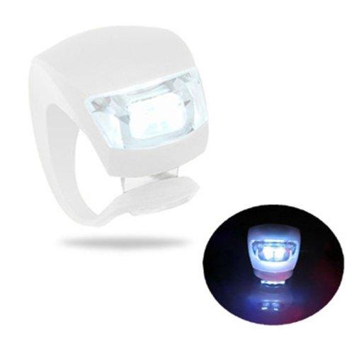 New LED 3-mode d'éclairage vélo Brouillard - Blanc (inclus 2 * CR2032)