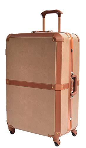 Vintage Style Suitcases Hard Shell Metal Frame Retro 4 Wheel Luggage TSA Lock Bags HLG603 (Large 76x50x30cm,5.2kg, 105 litres)