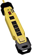 Tripp Lite 6 Outlet Industrial Safety Surge Protector Power Strip, 9ft Cord, Cord Wrap & Hang Holes, Metal, Lifetime Limited Warranty & $50K INSURANCE (TLM609SA)