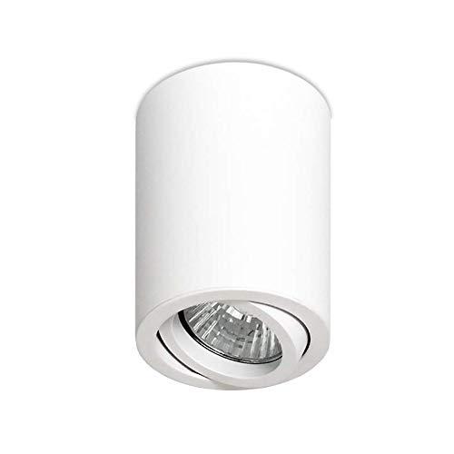 LED Deckenleuchte Aufbauleuchte Aluminium ROLLER S/L/BIG GU10 Schwarz Weiß Alu IP20 Aufbauspot Downlight (Roller Weiß)