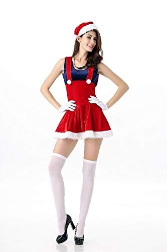Hcxbb-11 Kerst Kostuum - Feestelijke Jurk - Feestelijke Kostuum-Super Mario Game Suit -Cosplay Kostuum Vrouwen Volwassen Jurk Nachtclub Kostuum