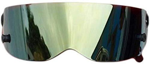 CattleBie Motorrad-Sturzhelme, Alien Integral Helm mit Visier, Querfeldeinrennen, Motocross, for Honda/Yamaha/Suzuki/Kawasaki, Bandit Helm. (Color : Gold, Size : Standard Size)