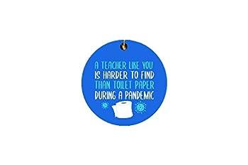 Teacher Pandemic Christmas Ornament