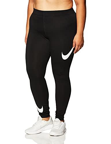 Nike Nslegasee Swoosh Collant Collant da Donna, Donna, Black/White, L