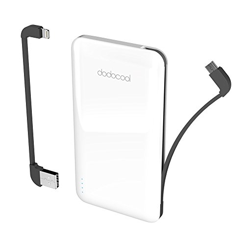 dodocool Caricatore Wireless Power Bank 10000mAh, Caricabatteria Portatile con Ingresso Micro USB/USB-C e Doppia Uscita USB, LED Display per iPhone XS/XR/X/8, Galaxy S8 ECC (Bianco)