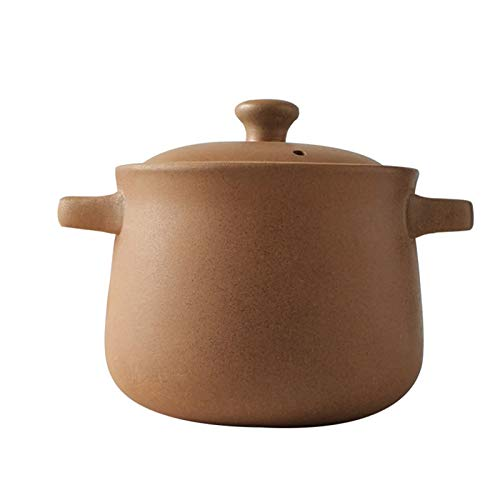 TIYKI Olla De Cerámica Clay Pot,con Casserole De Olla De Arcilla De Tapa,Multi-propósito Slow Cooker Cacerola Saludable,para Cocinar Plato De Cazuela-A 10000ml