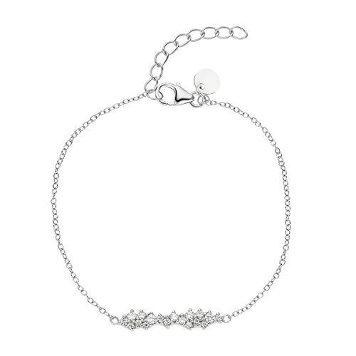 NOELANI Armband für Frauen, 925 Silber mit Zirkonia, längenverstellbar