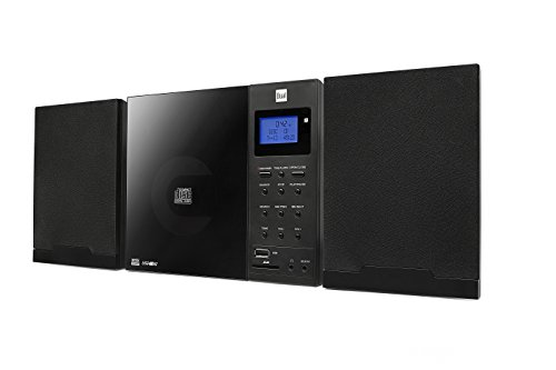Dual Vertical DAB 102 Schwarz Stereo Kompaktanlage mit Digitalradio (DAB+/UKW-Tuner, CD-Player MP3 Weckfunktion, Kopfhöreranschluss (3,5mm Klinke) SD-Kartenslot, USB) schwarz