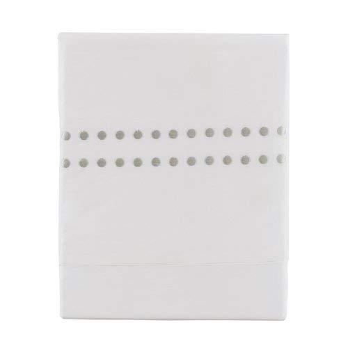 Essix Home Collection - Lenzuolo Venezia, Colore Bianco 270 x 300 cm Brodé Bianco