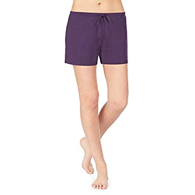 Nautica Women's Sleep Shorts, 100% Cotton Jersey, Eggplant, M from Nautica