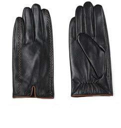 IMmps Herren Lederhandschuhe 2019 Neue Marke Touchscreen-Handschuhe Stilvolle warme Schwarze Handschuhe-T491Black-L