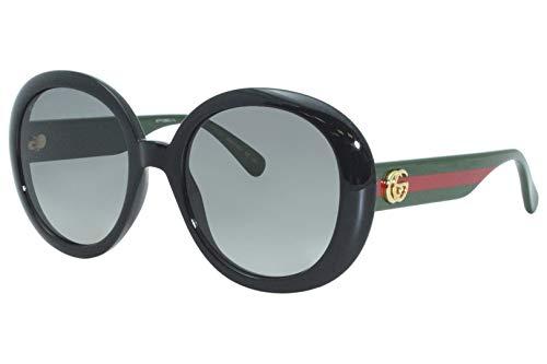 Gucci GG0712S svart/grå formad 55/21/140 solglasögon för kvinnor