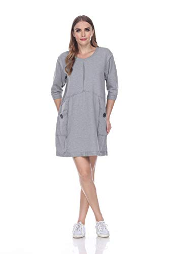 Neon Buddha Women's Standard Palma Dress, Sporty Grey, Large