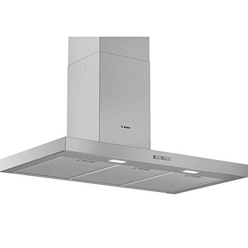 Bosch DWB96BC50 Serie 4 Wandesse / B / 90 cm / Edelstahl / wahlweise Umluft- oder Abluftbetrieb / TouchSelect Bedienung / Silence / Intensivstufe / Metallfettfilter (spülmaschinengeeignet)