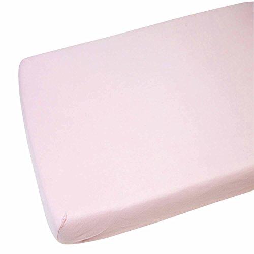 Hoeslaken compatibel met Chicco Lullago kinderbed 100% katoen - pink-by for-Your-Little -