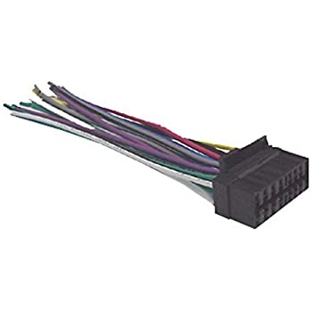 amazon.com: mobilistics wire harness fits sony cdx-gt65uiw, cdx-66upw,  mex-bt38w, mex-bt39uw + more s16a: industrial & scientific  amazon.com
