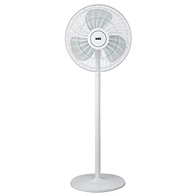 ANSIO 16-inch Pedestal Fan, 3 Speed Level Oscillating Stand Fan, Height Adjustable, Ideal for Home and Office - White - 2 Year Warranty