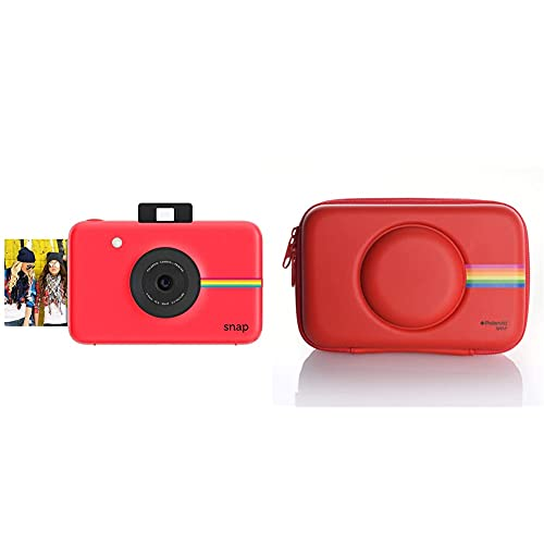 Polaroid Fotocamera Digitale A Scatto Istantaneo Con Tecnologia Di Stampa A Zero Inchiostro Zink, Rosso & Custodia In Silicone Per Fotocamera Digitale Istantanea Snap & Snap Touch