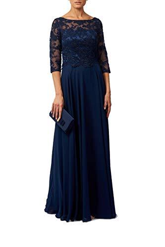 Mascara Navy Blau Mc186100 3/4 Länge Ärmel Abendkleid 44