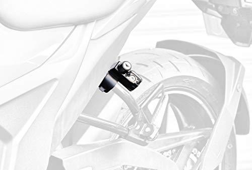 キジマ(Kijima) ヘルメットロック 盗難防止 スチール製ブラック仕上げ GIXXER150/250・SF250('20-) 303-1602