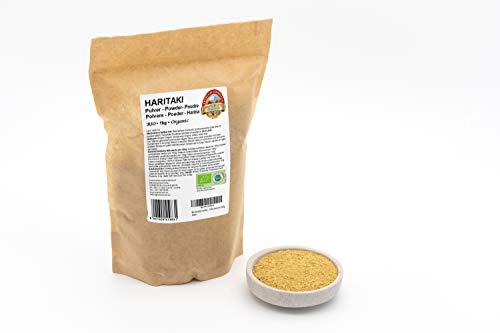 Bio Haritaki Pulver – 1kg – 100 % rein und naturbelassen – Ohne künstliche Zusätze – Rohkost – Vegan