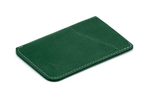 Bellroy Card Sleeve, slim leather wallet (Max. 8 cards and bills) - Racing Green
