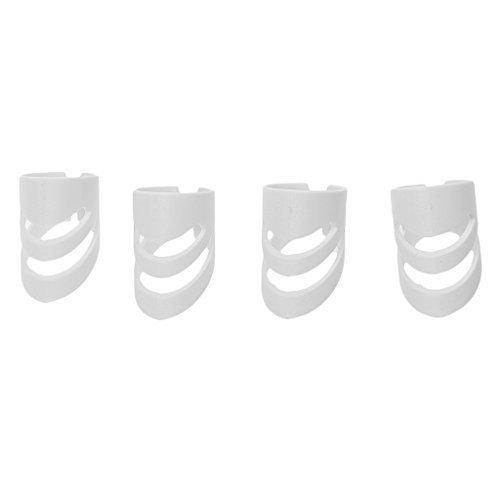 Kcopo Fingerschutz Kunststoff Finger Sack Fingerschutz Fingernagel Fingerspitze Schutz Rechte Hand Für Gitarre Basis 4 Stück Weiß