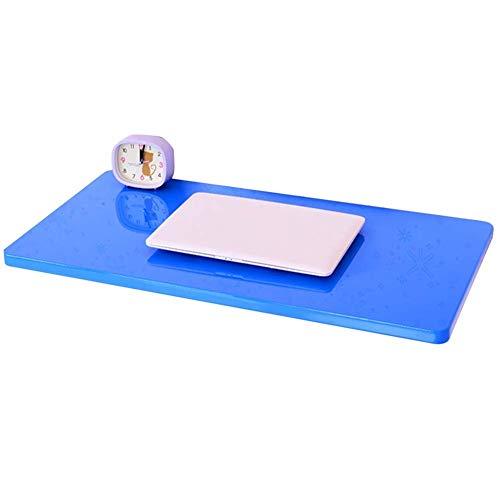 Vibrerende bureau/opbergtafel, eenvoudige wandhouder voor laptop, tablet, voor snelle herstel, houten plaat, 5 kleuren, 10 maten (kleur: roze, Ta 60x40cm Blauw