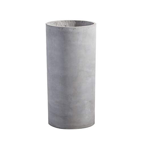 XZGang Cilindro de cemento maceta - maceta grande maceta al aire libre maceta decorativa gris dos...