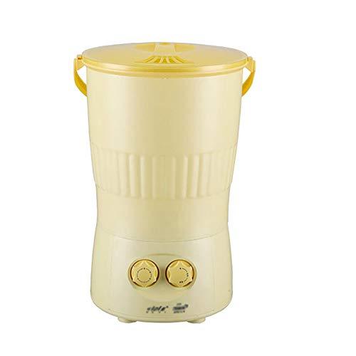 YSY Lavadora Plegable Portátil de 1,5 Kg de Capacidad, Control de Perilla, Lavado en Cubos, Esterilización Ultrasónica, Temporizador de 0-15 Minutos