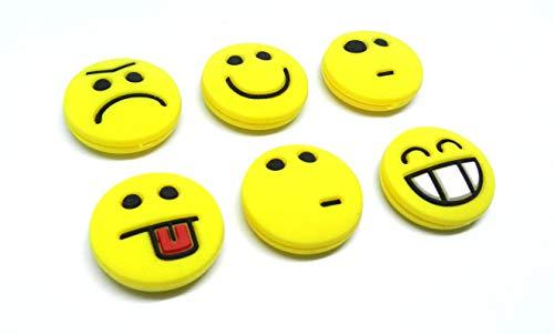 Tennis Feel sorbifun amortiguadores de vibración, Antivibradores de raqueta de tenis Emojis, Pack de 6