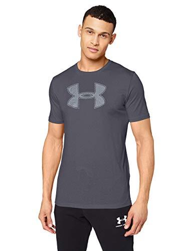 Under Armour Big Logo Ss - Camiseta ligera de manga corta para hombre, color Negro/Grafito, talla M