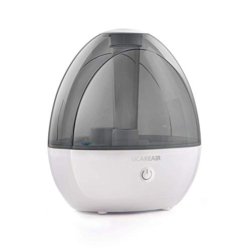 Ucareair Cool Mist Humidifier – Humidifier for Baby Bedroom, Whisper-Quiet with High Low Mist, No Filter Humidifiers for Compact Rooms, Waterless Auto-Off, Night Light, 2L Capacity, ETL Approved