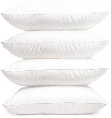 24x7 Almohada suave para dormir, lavable a máquina, 40,6 x 60,9 cm (espuma blanca) (4)