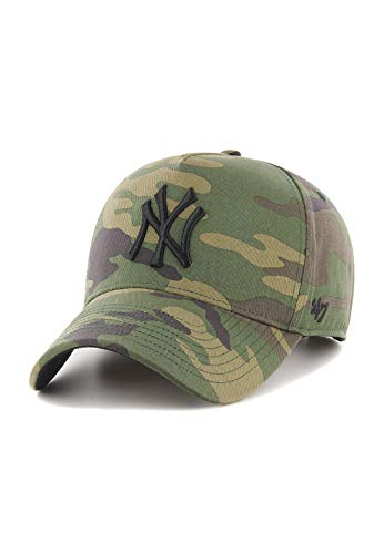 47Brand MVP Adjustable Cap NY Yankees B-GRVSP17CNP-CM Camouflage, Size:ONE Size