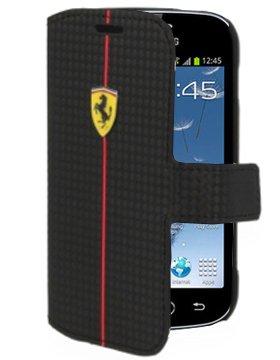 Ferrari Custodie FEFOCFLBK7562BL Samsung Galaxy Trend Plus S7580 Samsung Galaxy Trend S7560