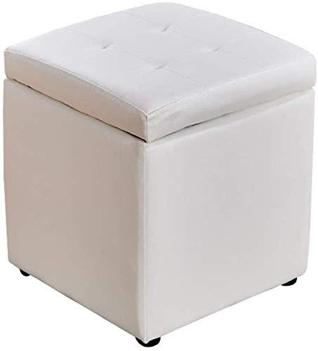 Puf caja de almacenaje Taburete de pie Puffee | 30x30x35cm Otomano impermeable | Taburete de almacenamiento cuadrado de cuero PU para sala de estar y dormitorio ( Color : B , Size : 30CM*30CM*35CM )