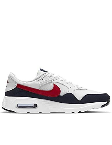 Nike Air MAX SC, Zapatillas Hombre, White University Red Obsidian, 48 EU